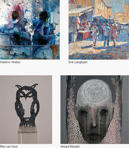 Collage expositie Sous-Terre Aalsmeer 11 januari - 8 maart 2015