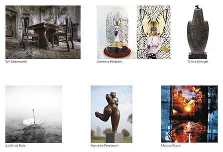 Collage expositie Sous-Terre Aalsmeer 15 maart - 17 mei 2015