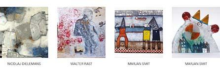 Collage expositie Sous-Terre Aalsmeer 24 januari - 20 maart 2016
