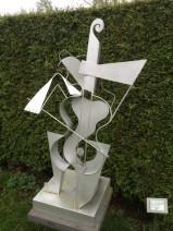 Cor van der Eijnden - De Musiënne - Roestvrijstaal - h 125 cm - 2200