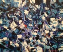 Peter John Voormeij - A man's voice - 90x75 cm - Acryl op linnen - 4000