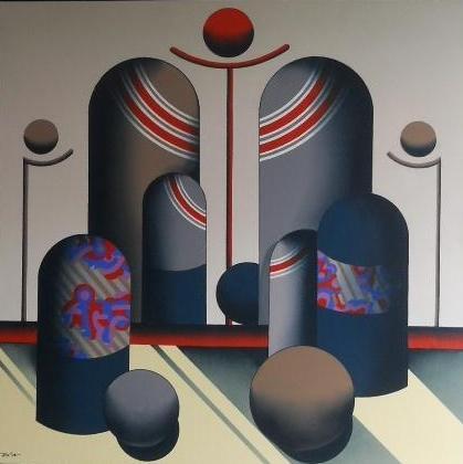 Neycho evening light olie acryl op linnen 60 x 50 cm 1700