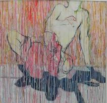 Ad Verhagen - Naakt op eigen schaduw - 80x80 cm - € 1950,--
