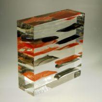 Czeslaw Roszkowski-Black-red -17x17x6cm-900euro nr9725
