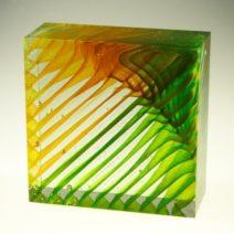 Czeslaw Roszkowski-Green-yellow-17x17x17cm-900euro nr7343