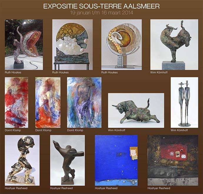 Expositie galerie Sous-Terre Aalsmeer