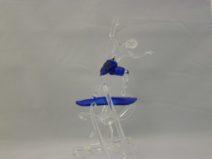Albert Hendriks - Surfer met blauwe broek - Glas - 18cm - € 300