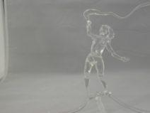 Albert Hendriks - Vrouw met zweep blank glas - Glas -16cm - € 175
