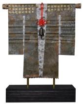 Kimono 201430 - lood en gemengede techniek - 25x23 cm - 395,- euro