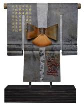 Kimono 201447 - lood en gemengede techniek - 26x23 cm - 395,- euro