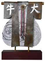 Kimono 201470 - lood en gemengede techniek - 28x25 cm - 395,- euro