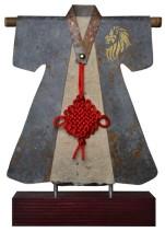 Kimono 201478 - lood en gemengede techniek - 30x23 cm - 450,- euro