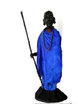 Marianne Houtkamp - Samburu wachter - Brons - 92cm - €7500,-