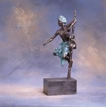Marianne Houtkamp - Srilankaanse visser - Brons - 60x60 cm - €4200,-