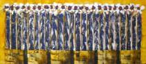 Willem van Schijndel - Bloemen - 80 x 180 cm- € 4800,--