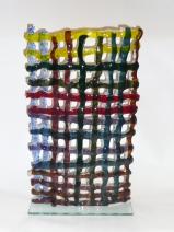 Frank Biemans, Weefsel, Glas, 50x12xH73cm. € 875,00