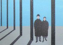 Geurt Ouwerkerk Art 10  - 15  gewone mensen - canvas 500  x 700 mm 1400 euro excl