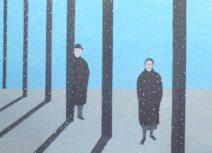 Geurt Ouwerkerk Art 11  - 15  gewone mensen - canvas 500  x 700 mm 1400 euro excl