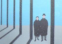 Geurt Ouwerkerk Art 12  - 15  gewone mensen - canvas 500  x 700 mm 1400 euro excl