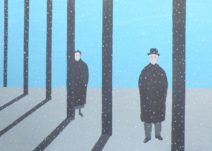 Geurt Ouwerkerk Art 13  - 15  gewone mensen - canvas 500  x 700 mm 1400 euro excl