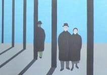 Geurt Ouwerkerk Art 15  - 15  gewone mensen - canvas 500  x 700 mm 1400 euro excl
