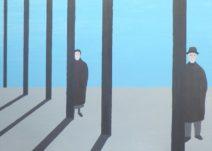 Geurt Ouwerkerk Art 6  - 15  gewone mensen - canvas 500  x 700 mm 1400 euro excl