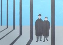 Geurt Ouwerkerk Art 7  - 15  gewone mensen - canvas 500  x 700 mm 1400 euro excl