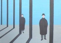 Geurt Ouwerkerk Art 8  - 15  gewone mensen - canvas 500  x 700 mm 1400 euro excl