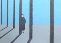 Geurt Ouwerkerk Art 9  - 15  gewone mensen - canvas 500  x 700 mm 1400 euro excl