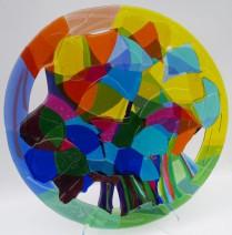 Angenelle Thijssen - opengewerkte schaal Kleurrijk bos - glas - 60cm - Ôé¼1450