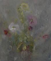 Peter van Santvoort, Stokrozen, 2.300,00 Olieverf op linnen 60 x 70