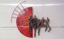 Judith Braun – Clair de la lune – Rood vijf figuren – gem. techniek – 3500