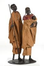 Marianne Houtkamp - Samburu family - Brons -  92 cm - 11000