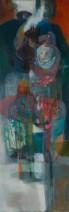 Sharlotte Lugt - Moeder en kind - Olieverf op doek - 50x150 - 2500