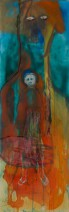 Sharlotte Lugt - Syrian mother - Gem. techniek - 50x150 - 2100