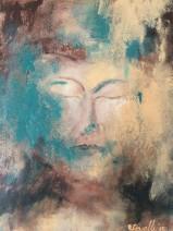 Yvonne Ravelli - Wondering - acryl op linnen - 80x60 - € 995,-