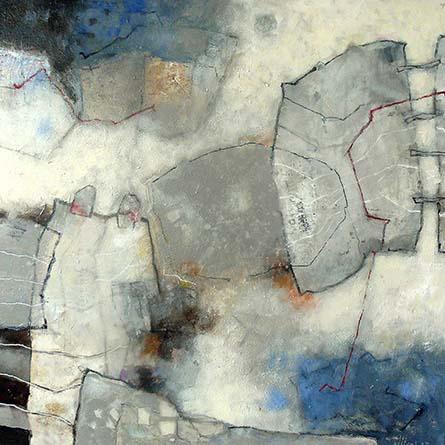 Verbintenis II   80 x 80   acryl op doek