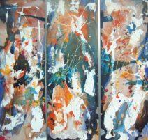 Jan VErhees - Tuin van mijn lusten - acryl op panelen - 120x130 - 4400_811x768