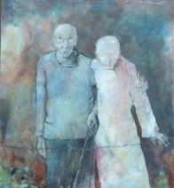 Jan Verhees - Schon ist die Jugendzeit 1 - acryl op canvast - 100x110 - 3300_709x768