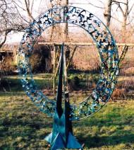 Adje Martens - Kracht ring - Verzinkt staal - H 210 B 80 cm - 6000