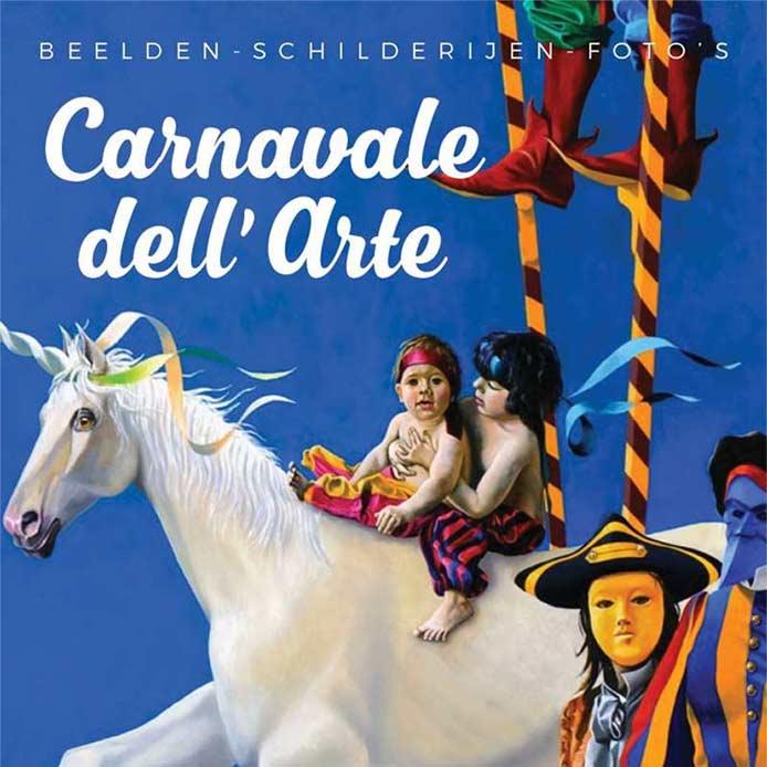 Banner expositie Carnavale dell' Arte Aalsmeer