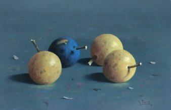 Leo Pors - Pruimen - 17 x 25 cm - olie op paneel - € 950,-_1024x663