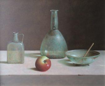 Leo Pors- Romeins glas en appel - 40 x 50 cm- olie op paneel - € 3500,-_945x768
