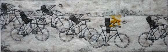 expositie-highlight_kunstenaars-trudy_middelkoop-wielrenners-galerie_sous_terre_lithoijen