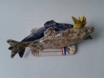 Edith Madou- Rooyale maatjes-Keramiek lint-Lengte 30 cm-€ 200-