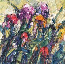 Amer Bader Bloemen 40 x 40 cm Olie op canvas € 900,-_779x768