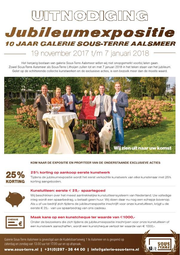 Jubileumexpositie '10 jaar Sous-Terre Aalsmeer'
