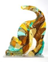 Grote kat - glas - 40x50 - 1750_597x768