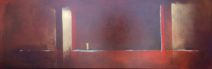 Paula Evers - De kust - gem. techniek - 50x150 - nr. 104 - lijst 180 - 3280_800x260